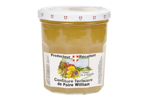 Confiture fermière de poire William